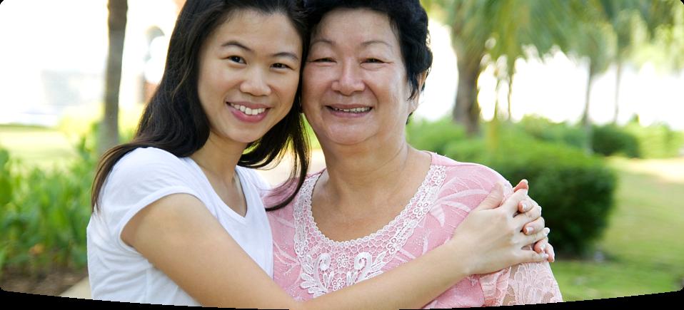 elder with caregiver